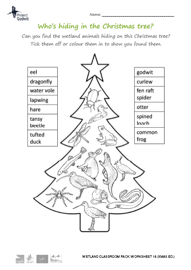 16: Who's hiding in the Christmas tree?