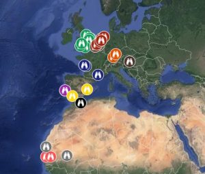 Sightings map