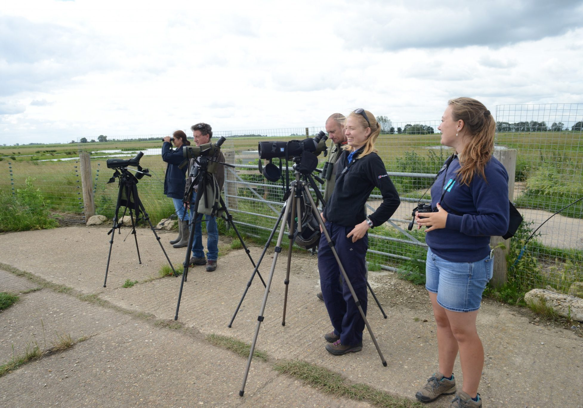 The Project Godwit team on tenterhooks as the release pen is opened